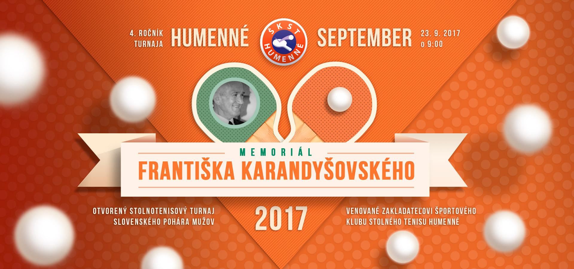 Memoriál Františka Karandyšovského 2017 v Humennom