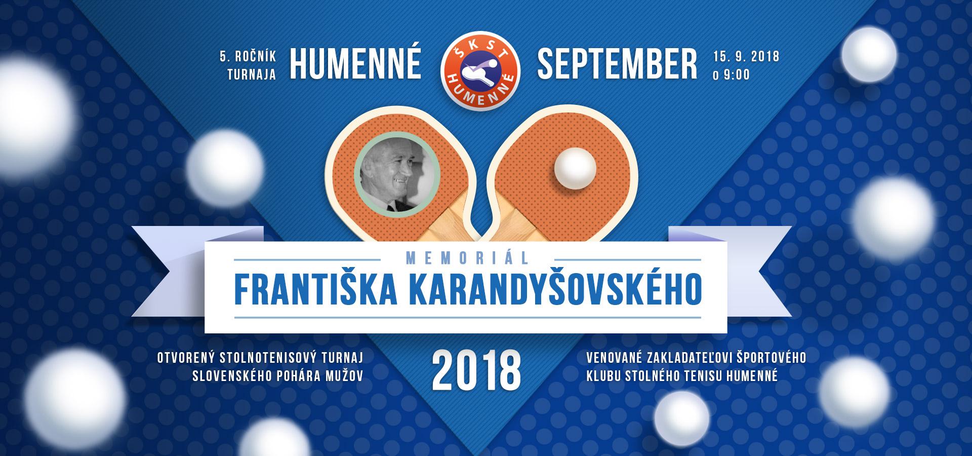 Memoriál Františka Karandišovského 2018